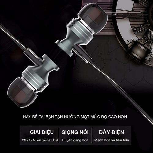 Tai nghe cao cấp silicon mềm Ossan dài 1,2m MOZA-01 Đen - Hàng chính hãng