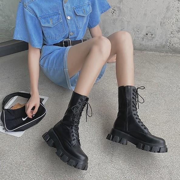 [SẴN] Giày bốt cổ cao Ulzzang Quảng Châu GBC8