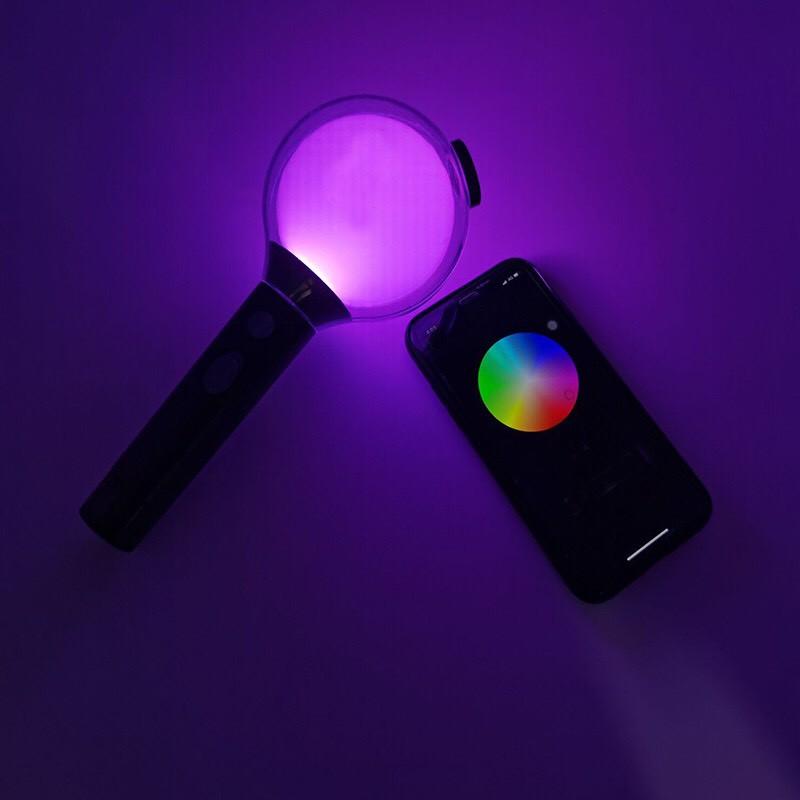 Lightstick BTS bomb ver 4 map of the soul BTS Blue có kết nối Bluetooth đổi màu UNOFF kèm lomo BTS