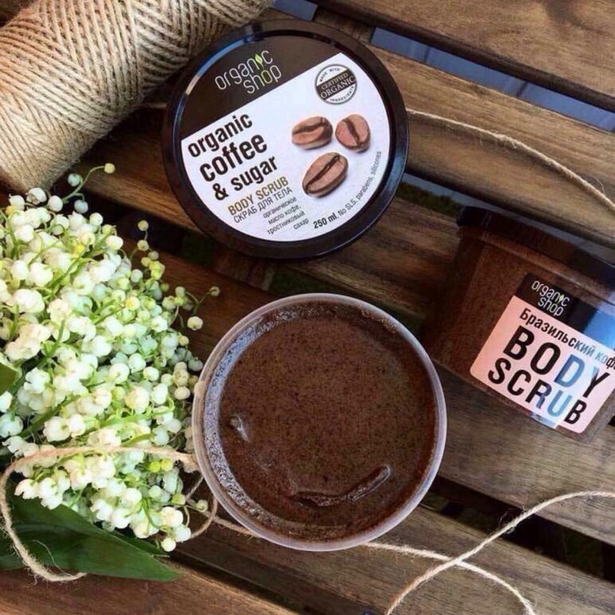 Tẩy Tế Bào Chết Toàn Thân Organic Shop Organic Coffee & Sugar Body Scrub  250ml | Mỹ Phẫm Coco beauty | Tiki
