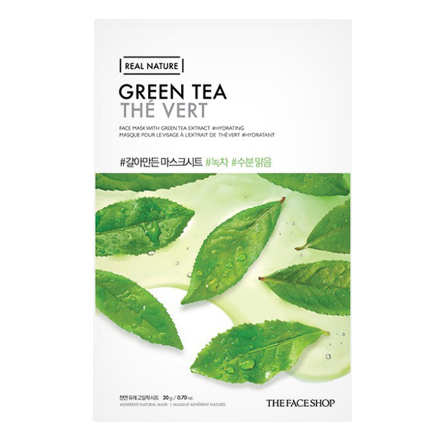 Mặt Nạ Giấy The Face Shop Real Nature Green Tea Face Mask 32500234 (20g)