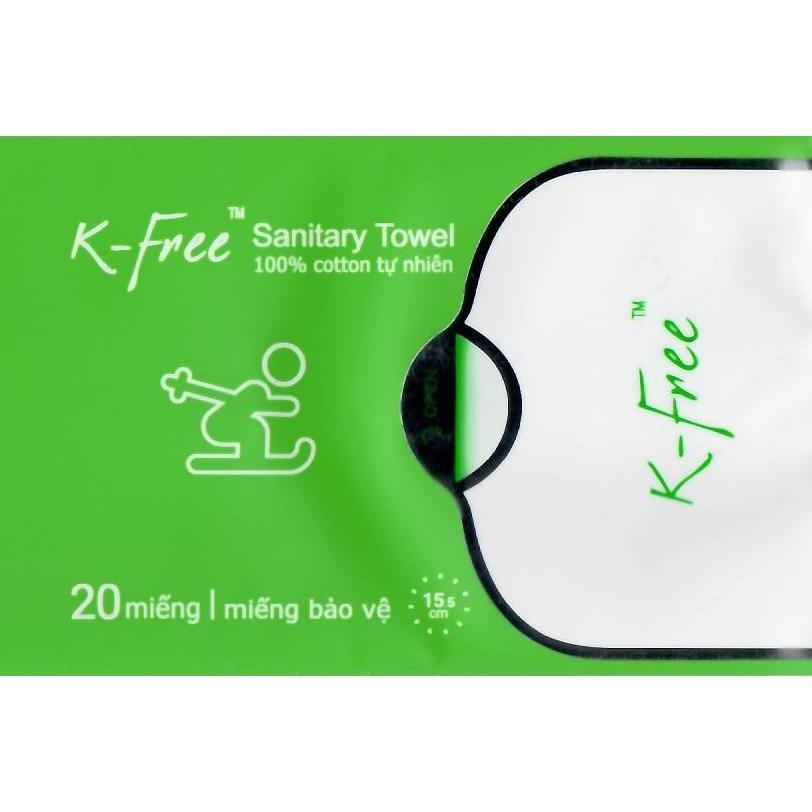 Băng Vệ Sinh K-Free Miếng Bảo Vệ 20 Miếng x 15,5 cm