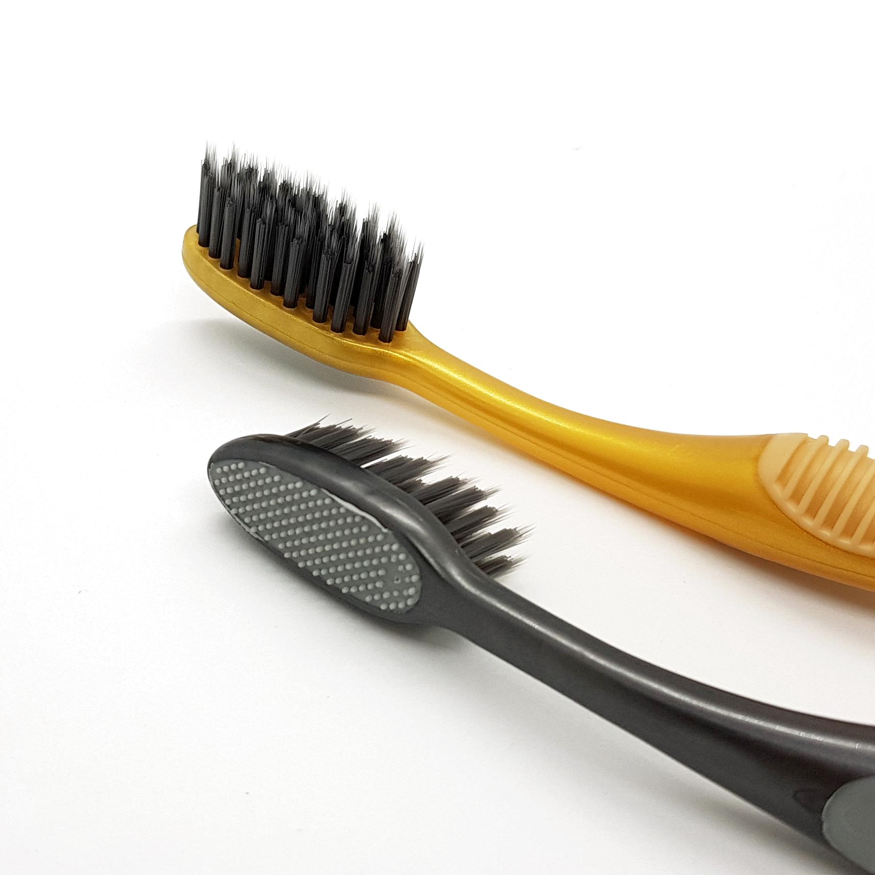 Bàn chải đánh răng than hoạt tính Lipzo WOW Charcoal