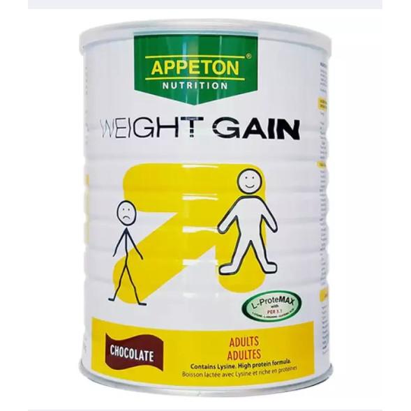 Thức uống dinh dưỡng giúp tăng cân người lớn - APPETON WEIGHT GAIN ADULT (Thức uống dành cho người gầy) - Hộp 900g