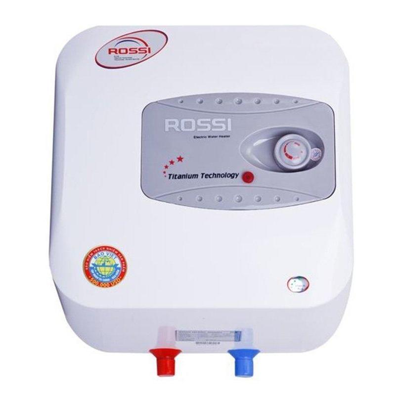Bình nước nóng gián tiếp chống giật Rossi R30Ti 30L (Trắng) - Hàng Chính Hãng