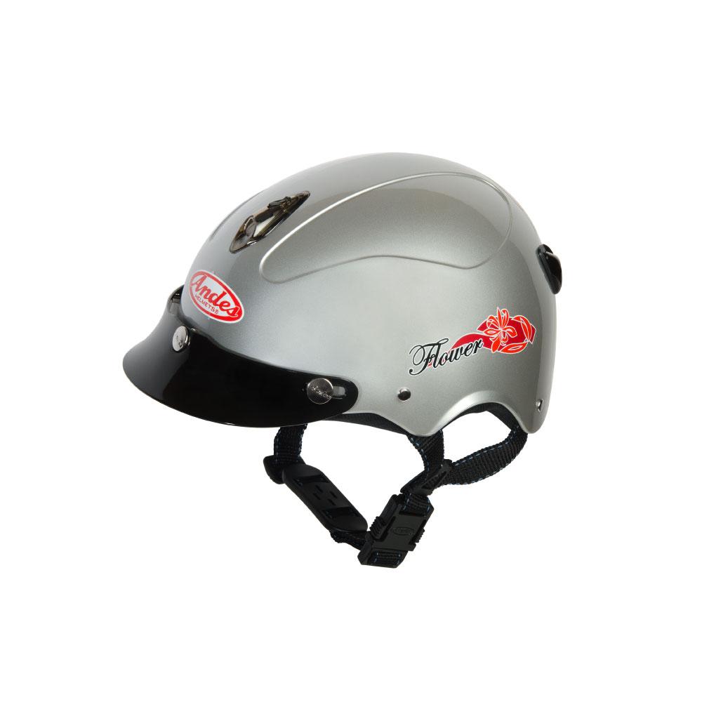 Mũ Bảo Hiểm Andes Nửa Đầu - 3S108M Bóng