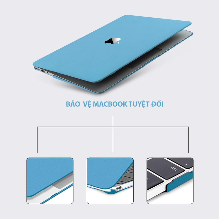 Combo ốp kèm phủ phím dành cho Macbook màu Xanh Pastel đủ dòng