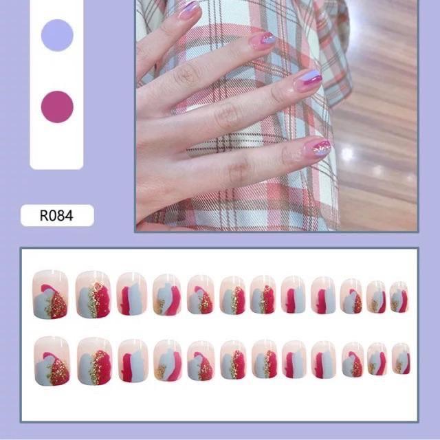 Set 24 móng tay giả Nail Box - Mã R084