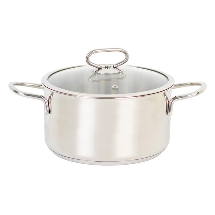 Nồi Inox Cao Cấp 3 Đáy Nắp Kiếng Happy Cook Delux Plus
