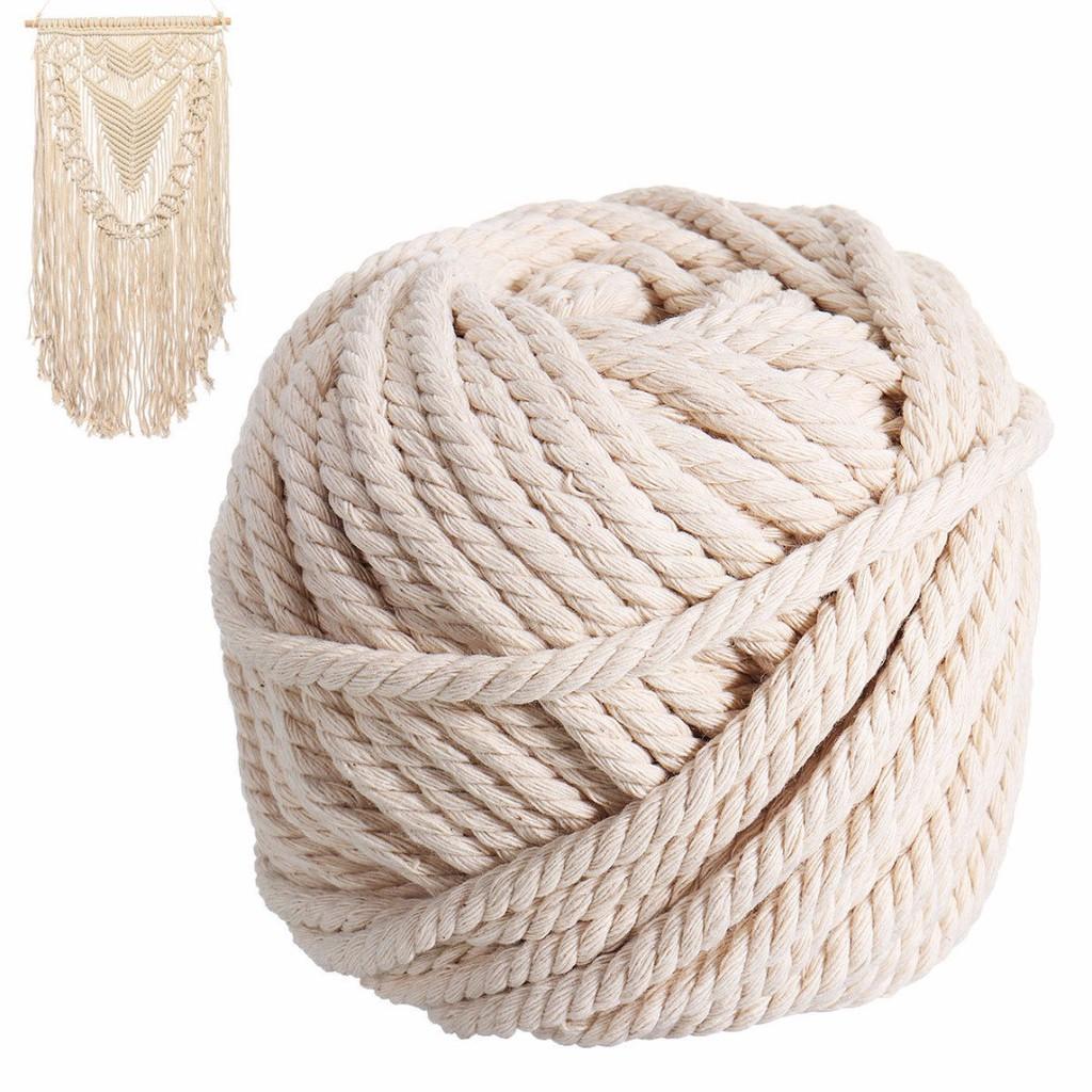 Combo 2 Dây thừng macrame se cotton, dây thừng trang trí 5mm dài 1m