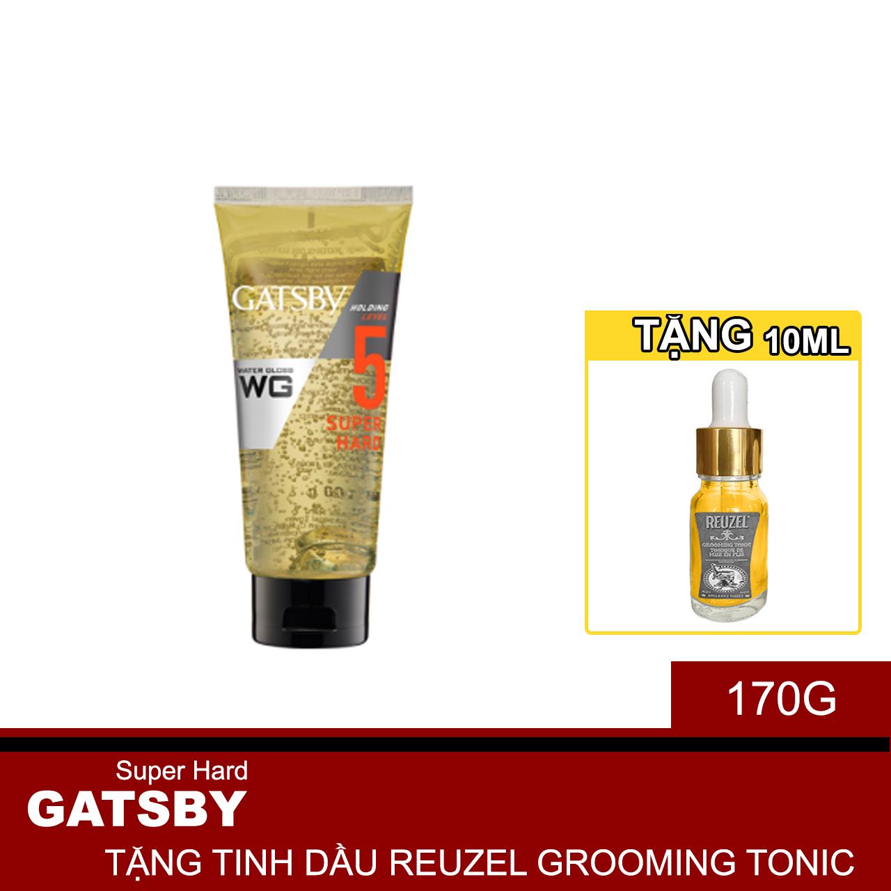 Gel Tạo Kiểu Siêu Cứng Water Gloss Bóng Mượt Super Hard Cấp Độ 5 + Tặng Reuzel Grooming Tonic - Chính hãng - WATER GLOSS 170G