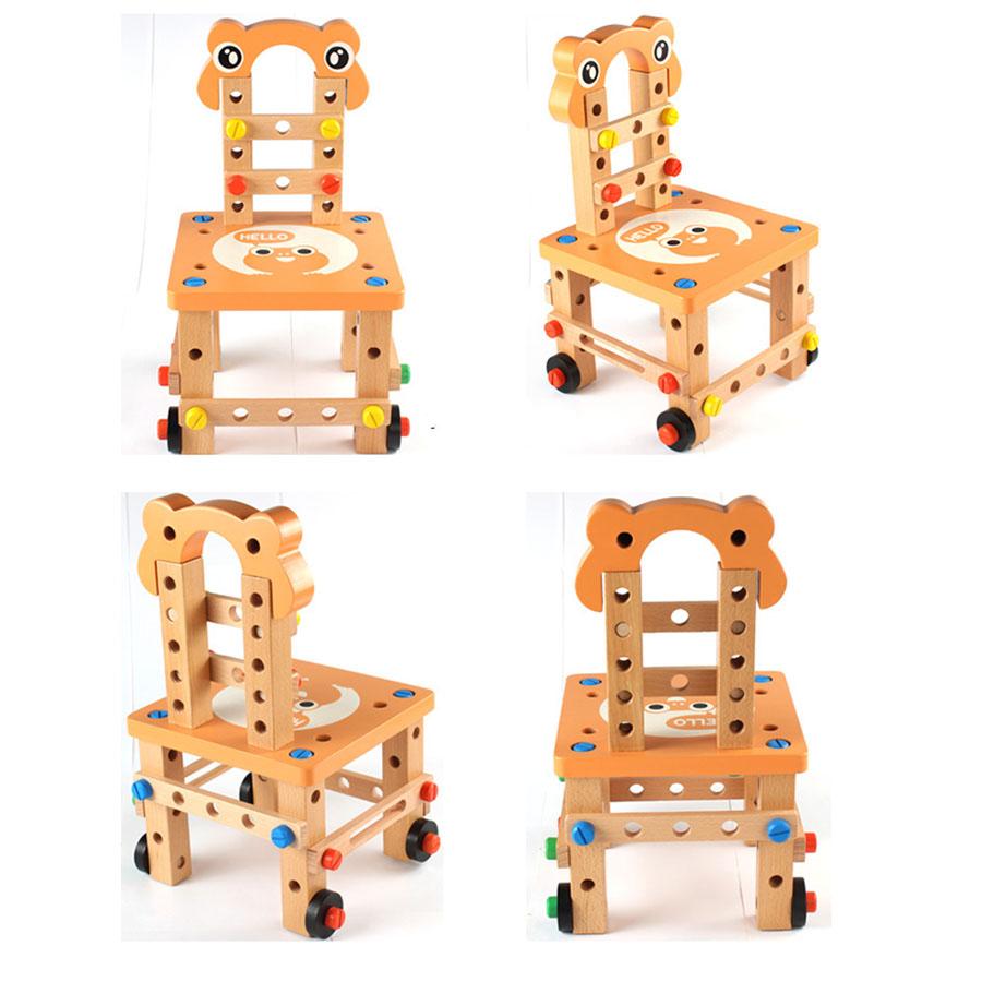Đồ chơi gỗ lắp ghép mô hình ghế cho bé