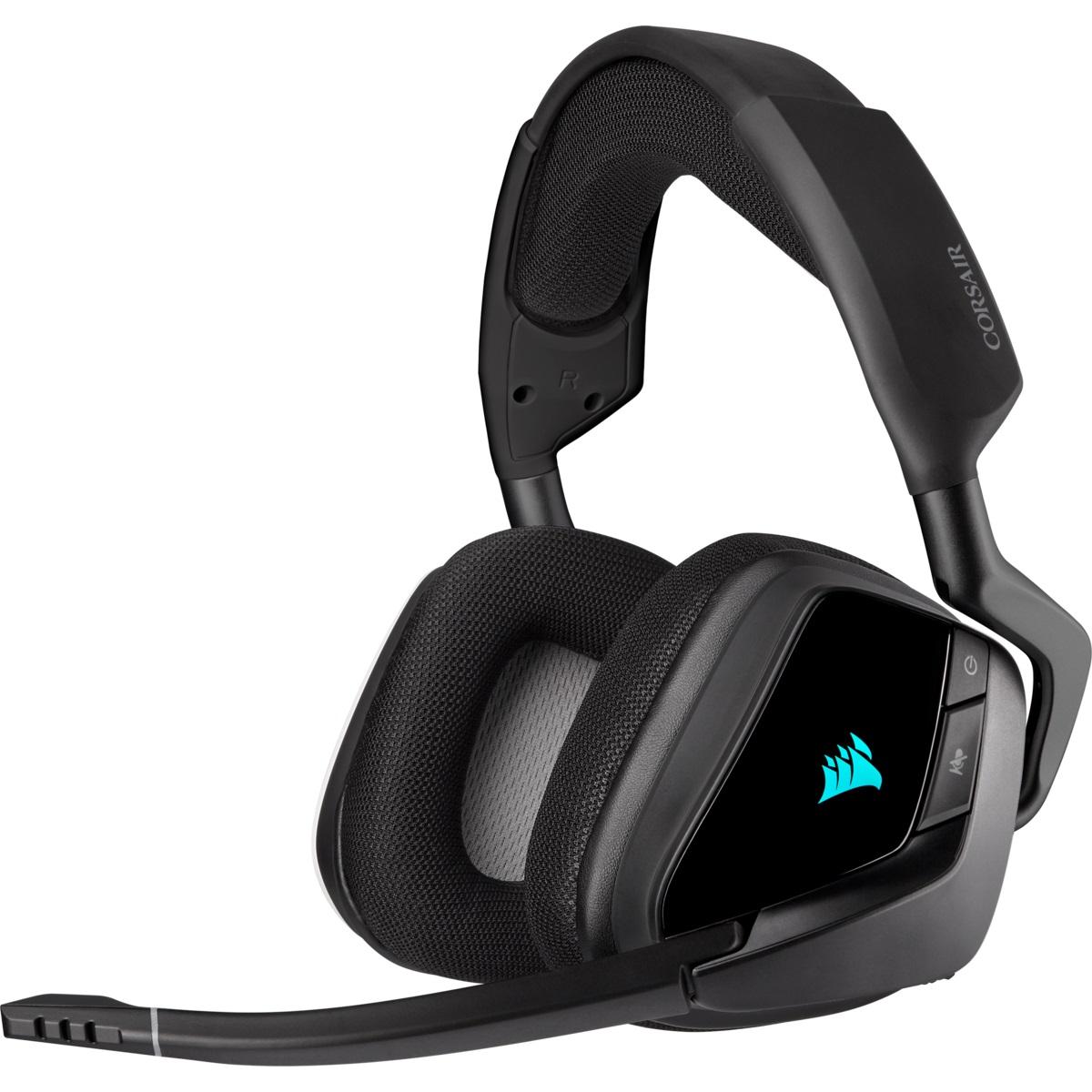 Tai nghe Corsair VOID RGB ELITE Wireless 7.1 - Carbon - Hàng Chính Hãng