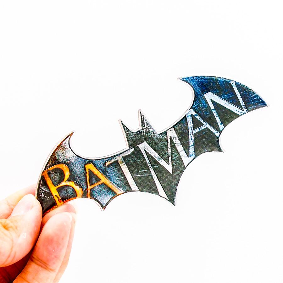 Batman hình cánh dơi - Sticker hình dán metal kim loại