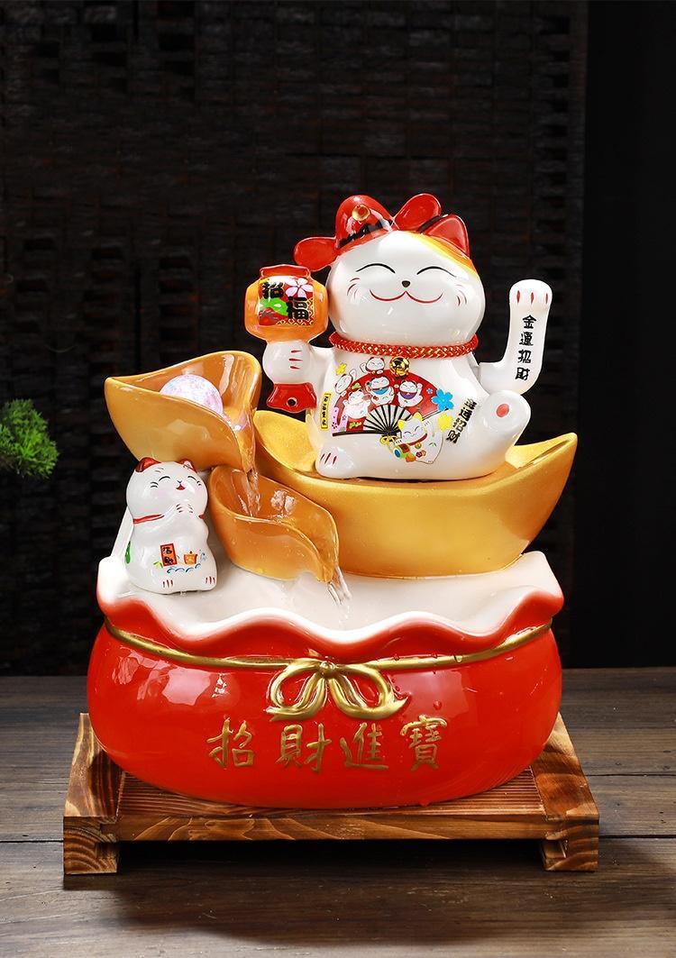 Thác Nước Phong Thủy Mèo May Mắn Nhật Bản