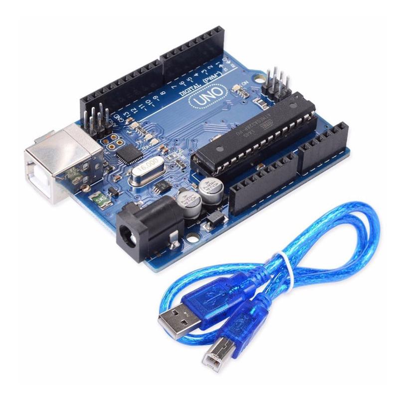 Kit Arduino Uno R3 Chíp Cắm Atmega328P ( Tặng Cáp Kết Nối )