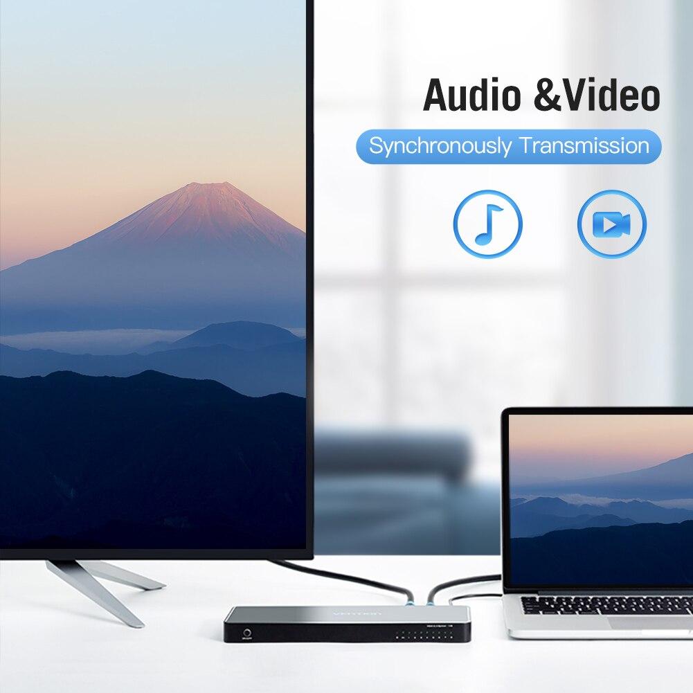 Bộ chia HDMI 1 ra 8 VENTION vỏ Alumium Alloy - Hàng chính hãng