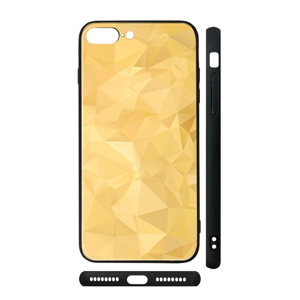 Ốp kính cho iPhone in hình Vân kim cương - BG0010 có đủ mã máy - iPhone 6 Plus - 6s Plus
