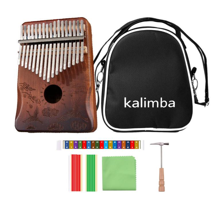 Đàn Kalimba 17 Phím gỗ mahogany CEGAM17-Chim hạc ( Tặng Túi kaki bảo vệ, Búa chỉnh âm, Sticker dán note, Khăn lau, stick màu)