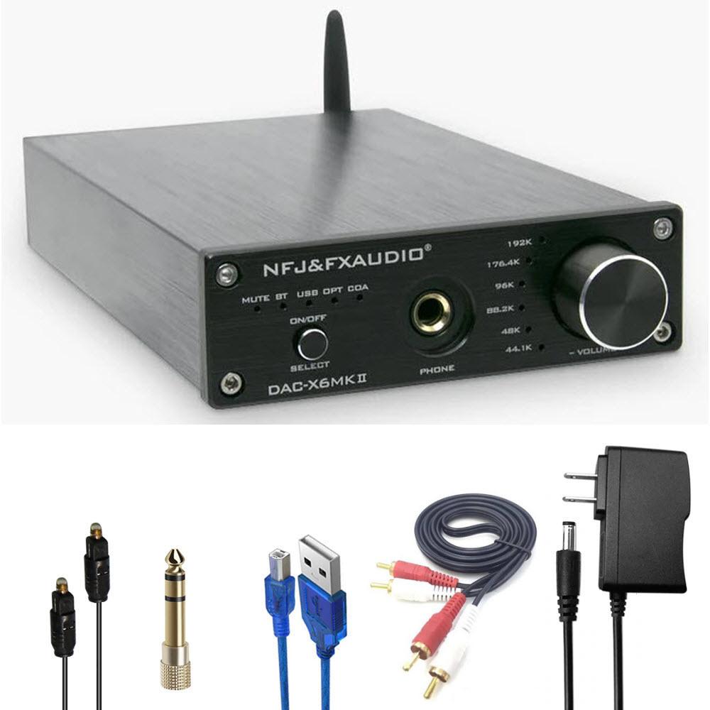 Bộ Giải Mã Âm Thanh FX Audio DAC X6 MKII Hỗ Trợ Bluetooth 5.0 Chuẩn APTX Model 2020 DT - Hàng Chính Hãng