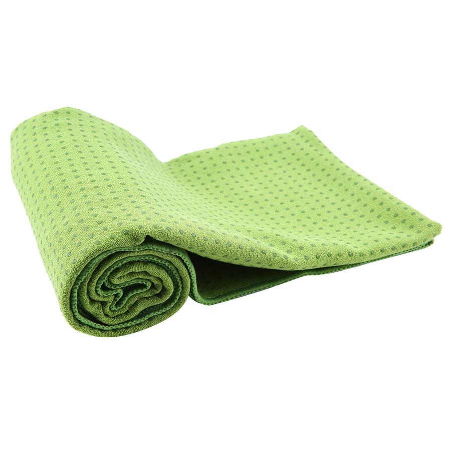 Khăn trải thảm yoga cotton hạt cao su non Senior - Xanh lá