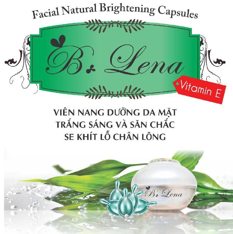 Hộp 40 viên nang dưỡng trắng sáng da, chống lão hóa, se khít lỗ chân lông  B. Lena Facial Natural Brighten Capsules