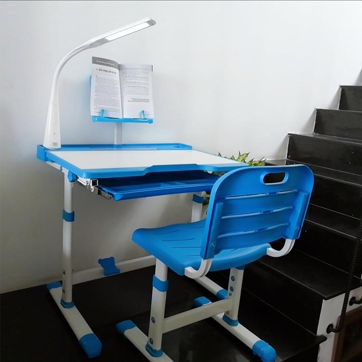 Bàn học sinh chống gù, chống cận đa năng, điều chỉnh độ cao bàn ghế, mặt bàn nghiêng 60 độ