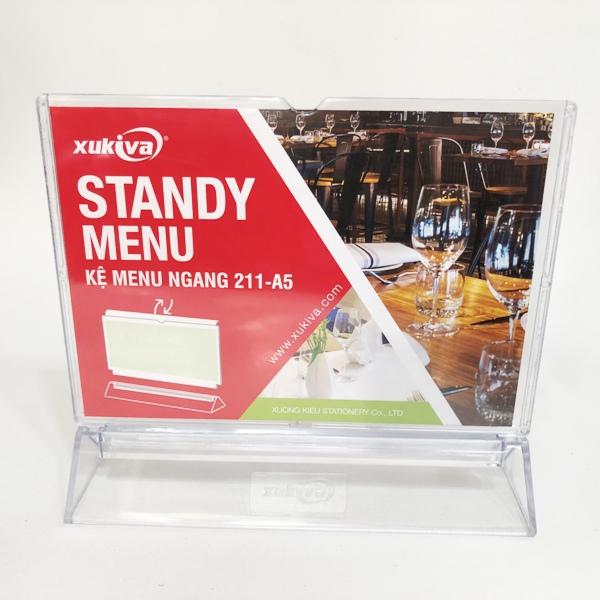 Khung thực đơn ngang A5-211 (Slanted Sign Holder)