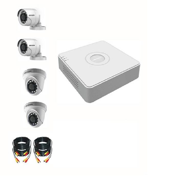 Bộ camera 2.0 HIKVISION 4 con ,đầy đủ phụ kiện đi kèm,HÀNG CHÍNH HÃNG