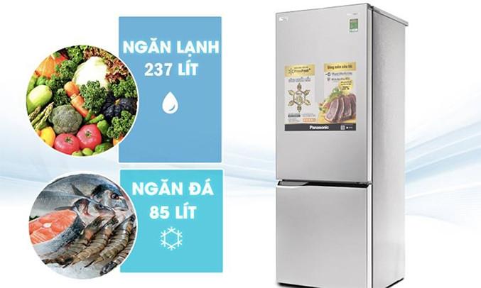 Tủ lạnh Panasonic 322 lít NR-BV369QSV2 dung tích lớn