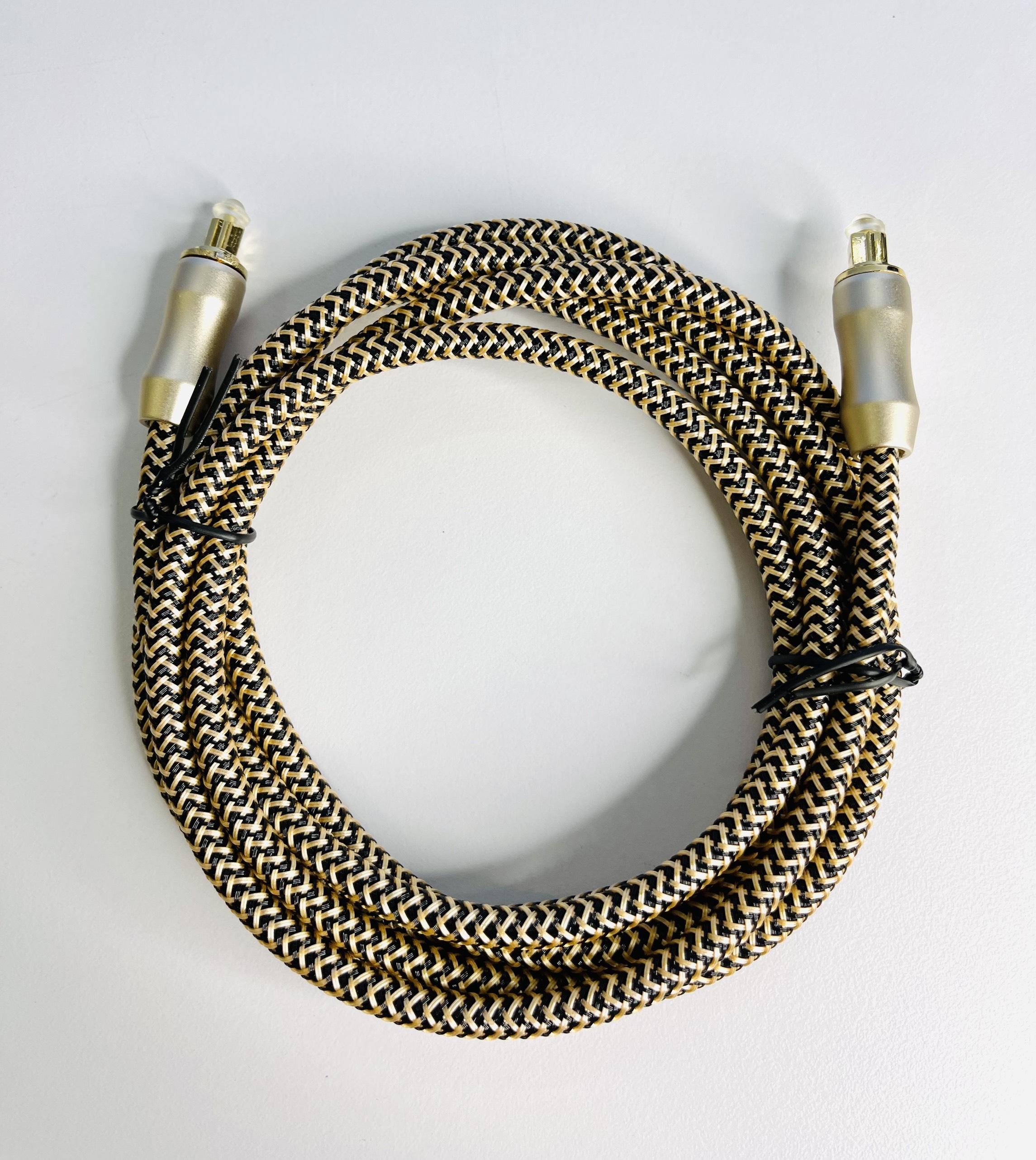 Dây audio quang (Toslink Optical) đầu mạ vàng dài 2M HIMEDIA 8.0 - Hàng chính hãng