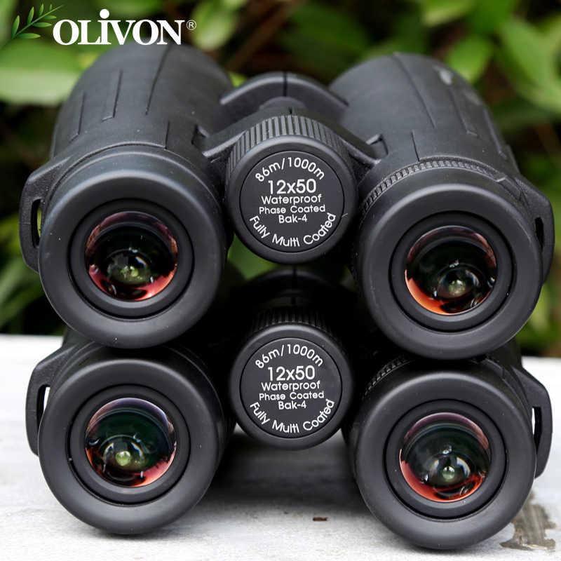 Ống nhòm Olivon Crane 12×50 Chính Hãng, Ống nhòm có độ phóng đại 12 lần với hình ảnh sắc nét, Chống nước tuyệt đối