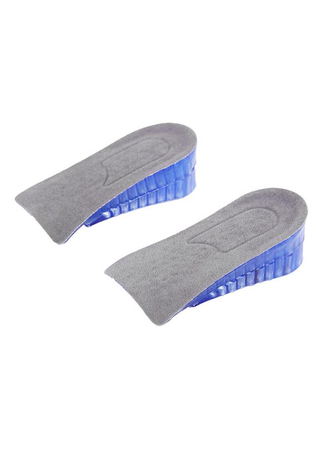 Lót giày tăng chiều cao gel nửa bàn 2 lớp cao 4 cm (Màu Xanh Dương)