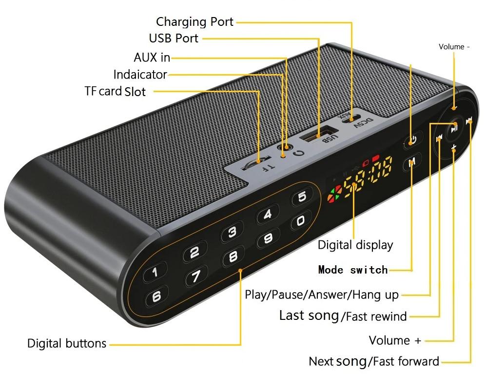 Loa Buetooth  âm thanh chuẩn HifiQ8 Đen  siêu Bass PF161