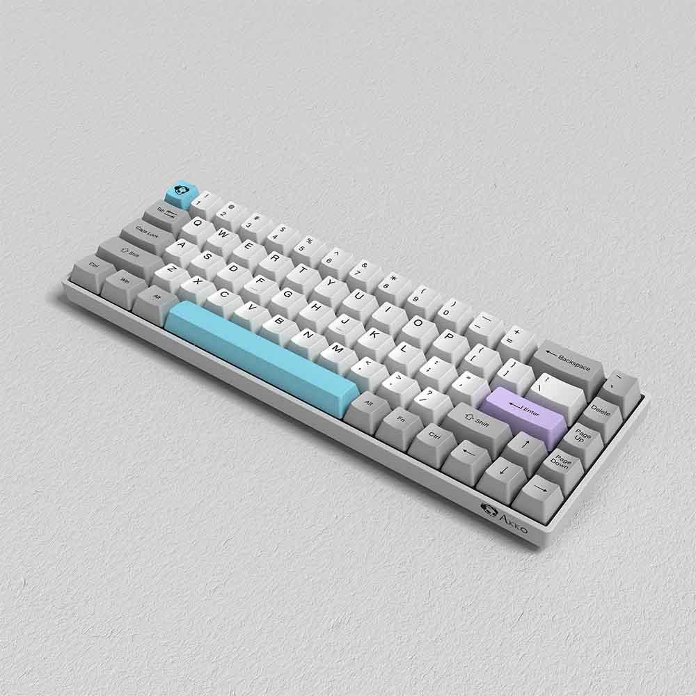 Bàn phím AKKO 3068 Silent Bluetooth 5.0 White led - Hàng chính hãng