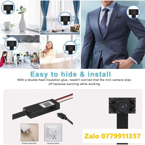 CAMERA Hồng Ngoại 4 Led Đen Chuyên Dụng Quay Đêm Cao Cấp V99 Plus FullHD 1080p 4K Hỗ Trợ Wifi IP Từ Xa