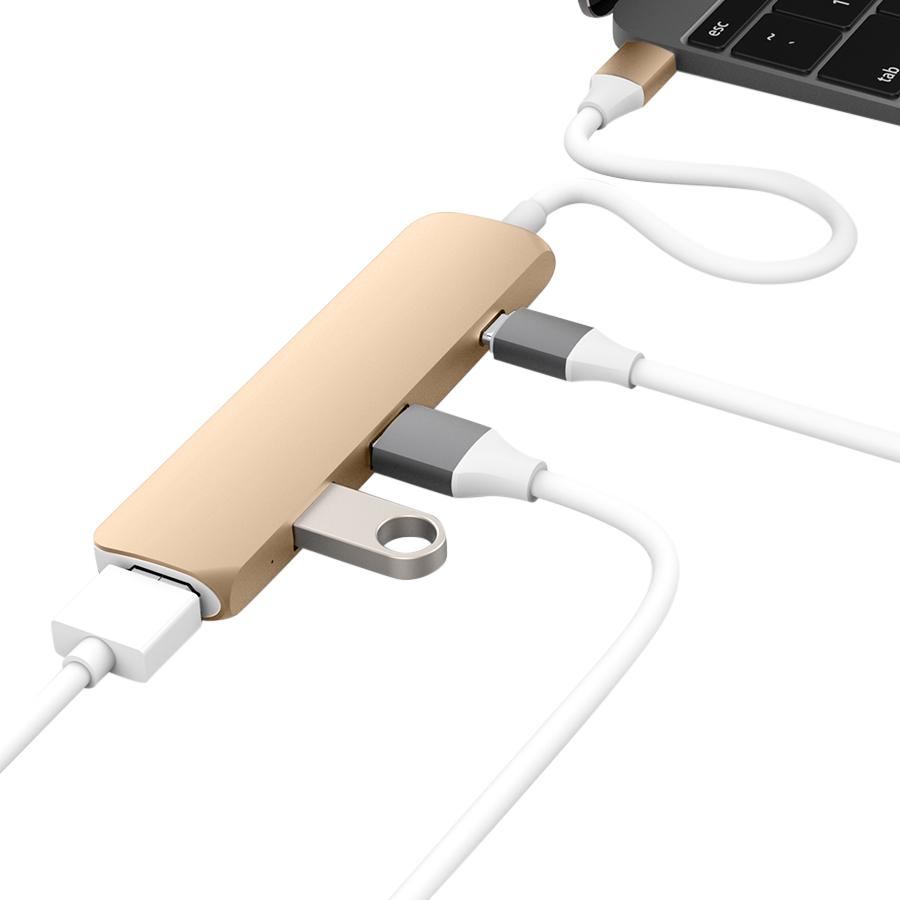 """Cổng Chuyển Hyper HyperDrive USB-C Hub With 4K HDMI Support For MacBook Pro 2016 / 2017, MacBook 12"""" - Hàng Chính Hãng"""