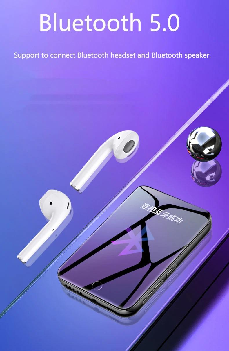 Máy nghe nhạc xem phim hỗ trợ bluetooth đa ngôn ngữ tra từ điển cảm ứng dung lượng 8GB thế hệ mới nhất Ruizu M7 - Hàng Chính Hãng