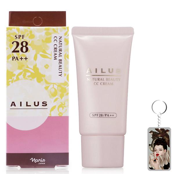 Kem Naris Ailus Natural Beauty CC Cream Nhật Bản 30ml tặng kèm móc khóa