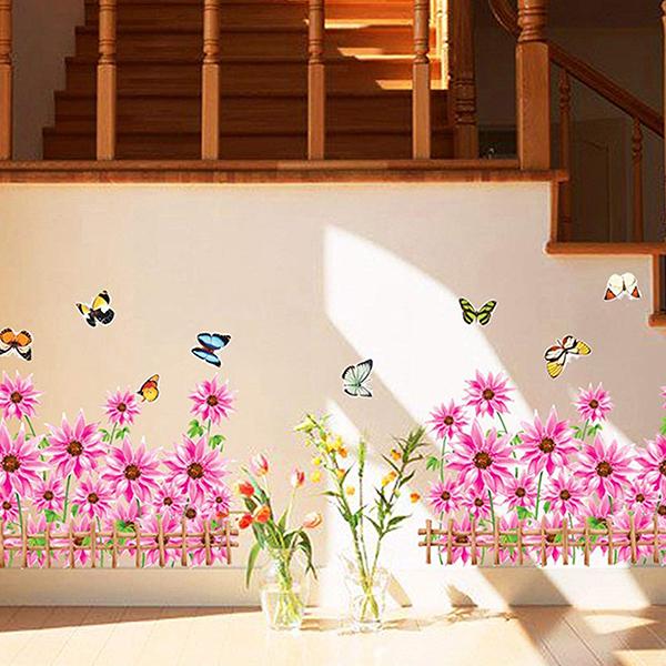 Decal Dán Tường Họa Tiết CT Hướng Dương Hồng CT14 (50 x 100 cm)