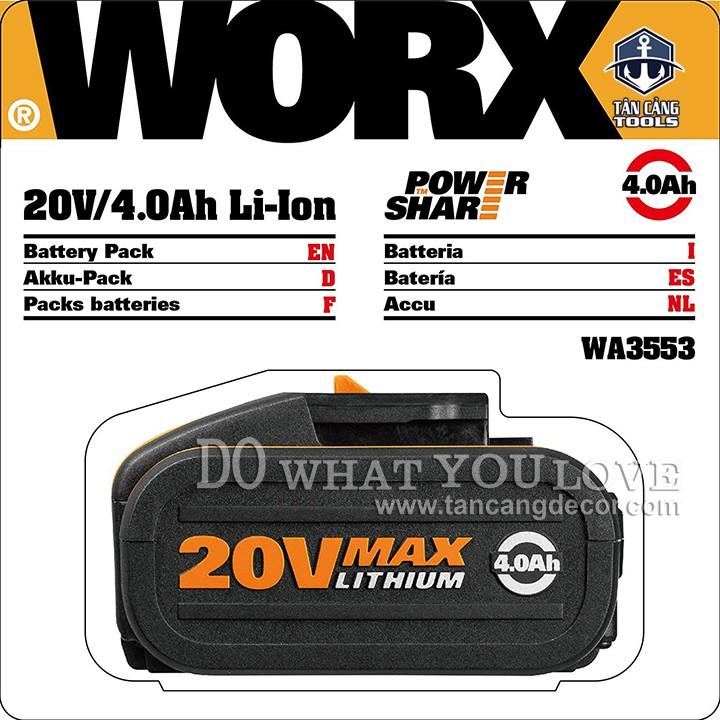 Pin Lithium Worx WA3553 20V 4Ampe