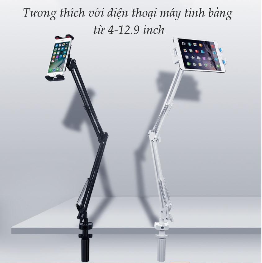 Giá đỡ điện thoại, máy tính bảng kẹp cạnh bàn, giá sách... chất liệu kim loại, xoay góc 360 độ, 4-12.9 inch UGREEN LP142 50394 - Hãng chính hãng
