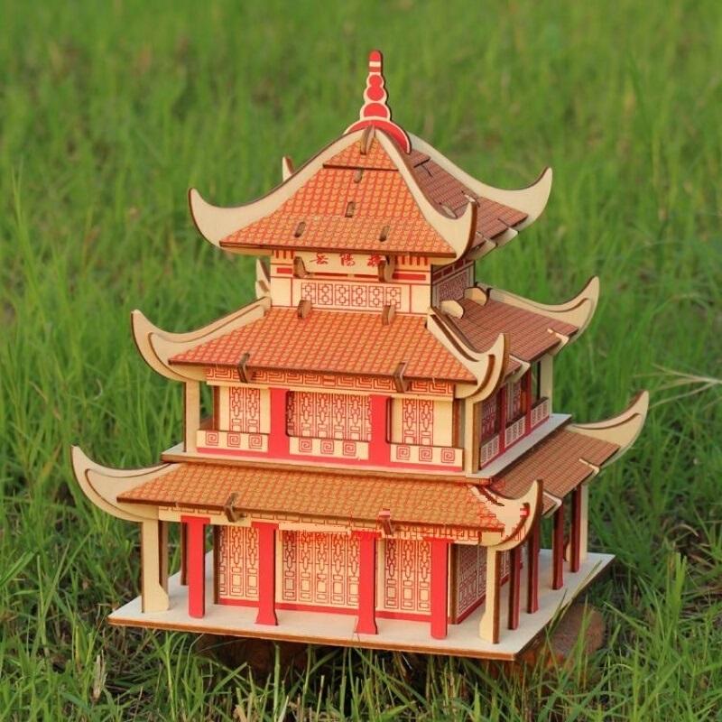 Đồ chơi lắp ráp gỗ 3D Mô hình Yueyang Tower HG-F008