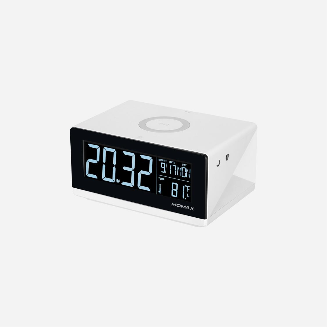 Đồng hồ thông minh kiêm sạc nhanh không dây 10W Momax - Hàng chính hãng