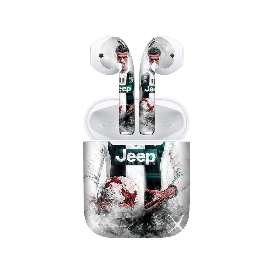 Miếng dán skin chống bẩn cho tai nghe AirPods in hình bóng đá - 009 (bản không dây 1 và 2)