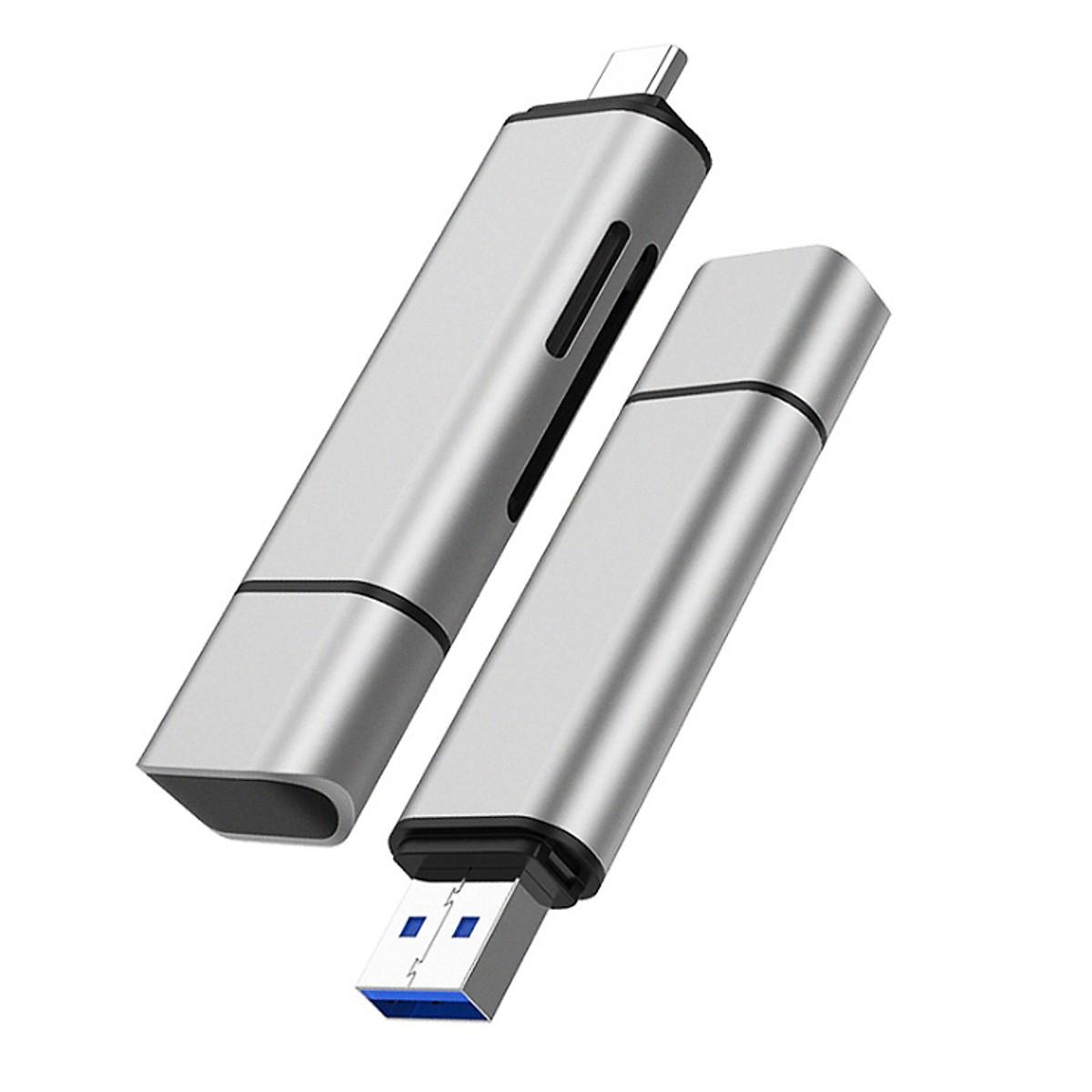 Đầu đọc thẻ nhớ SD, TF chân Type C, USB 3.0 Zomy - Hàng Chính Hãng