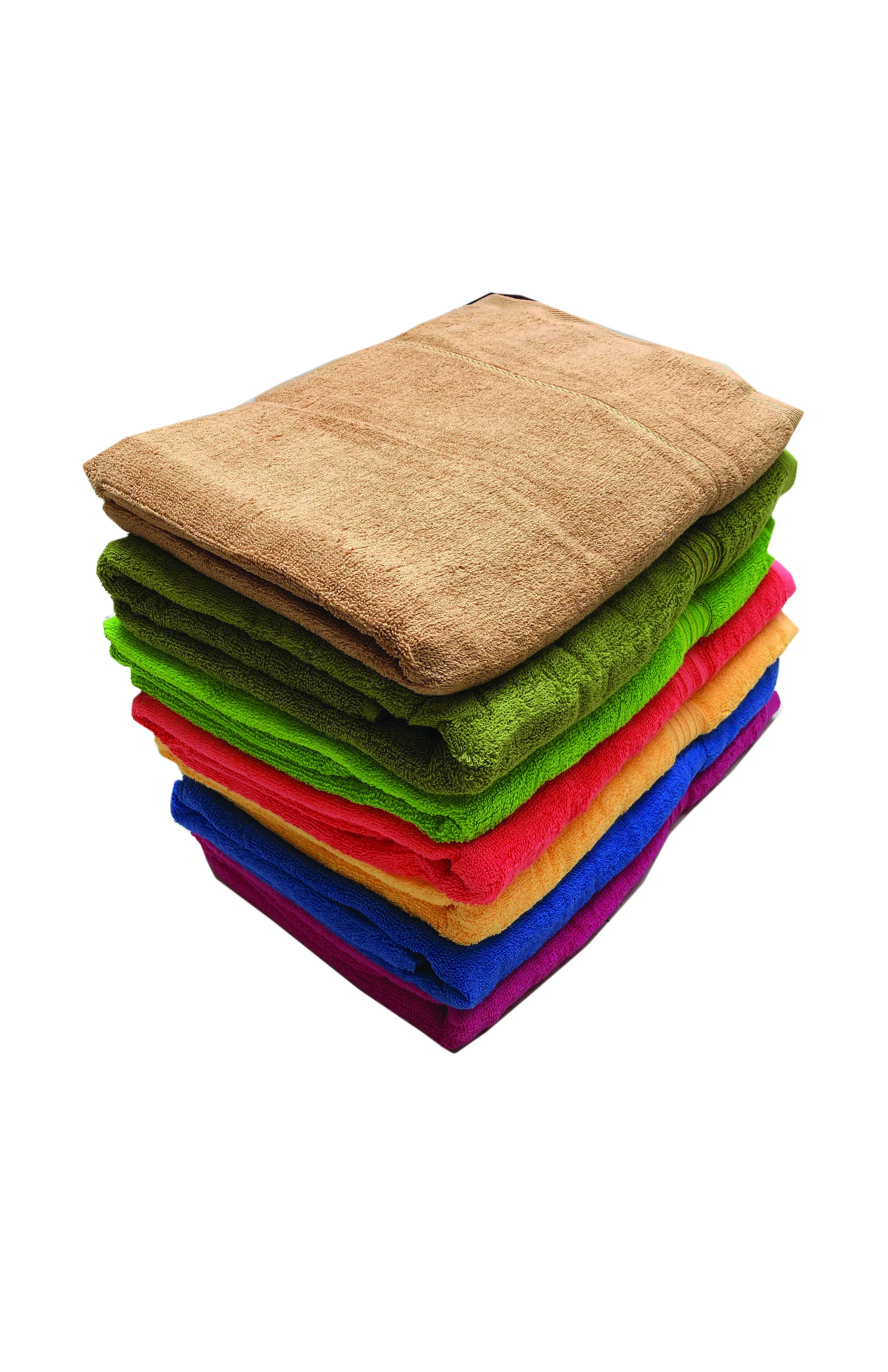 Khăn tắm màu kích thước 70*140 (giao màu ngẫu nhiên)