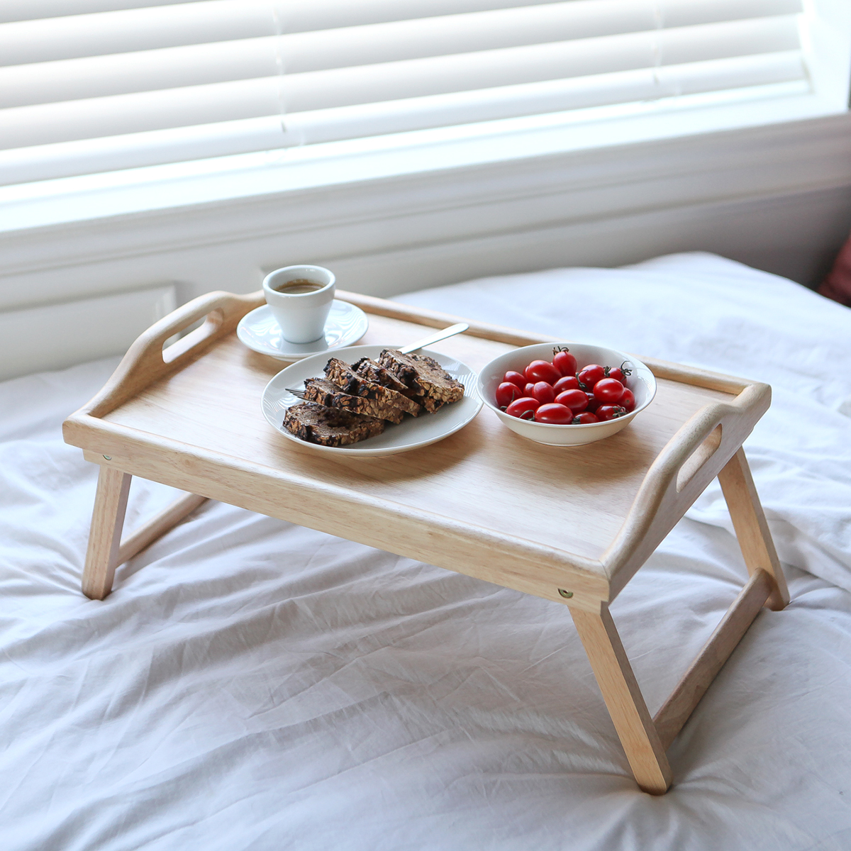Khay Bàn Ăn Mini Gấp Gọn Bằng Gỗ Bed Tray Nội Thất Kiểu Hàn BEYOURs
