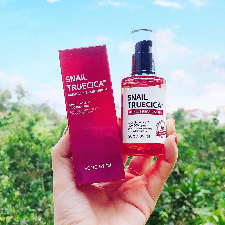Serum Dưỡng Phục Hồi, Cải Thiện Vết Thâm, Sẹo Lõm Some By Mi Snail Truecica Miracle Repair Serum 50ml