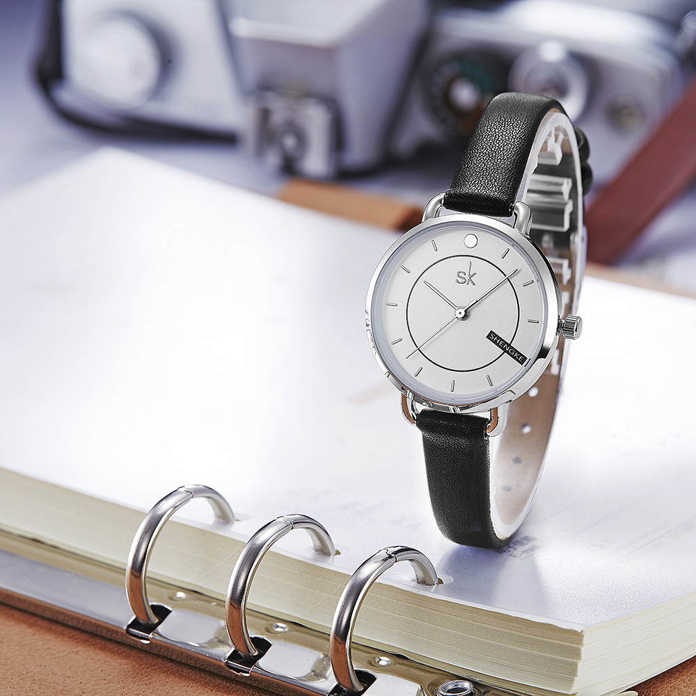 Đồng hồ nữ chính hãng Shengke Korea K8032L-01 Đen